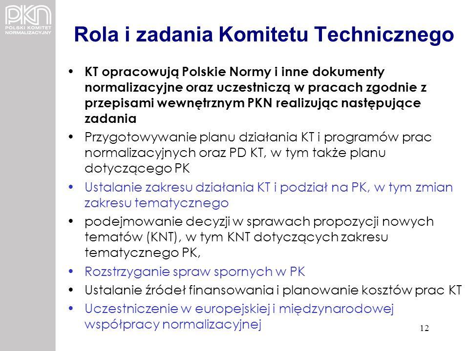 Rola i zadania Komitetu Technicznego