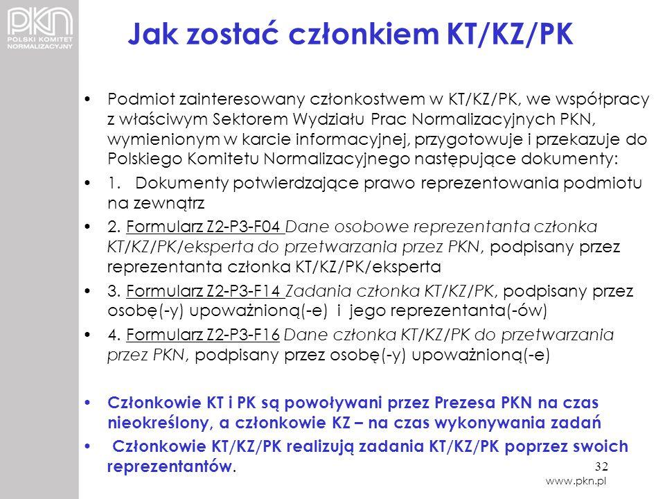 Jak zostać członkiem KT/KZ/PK
