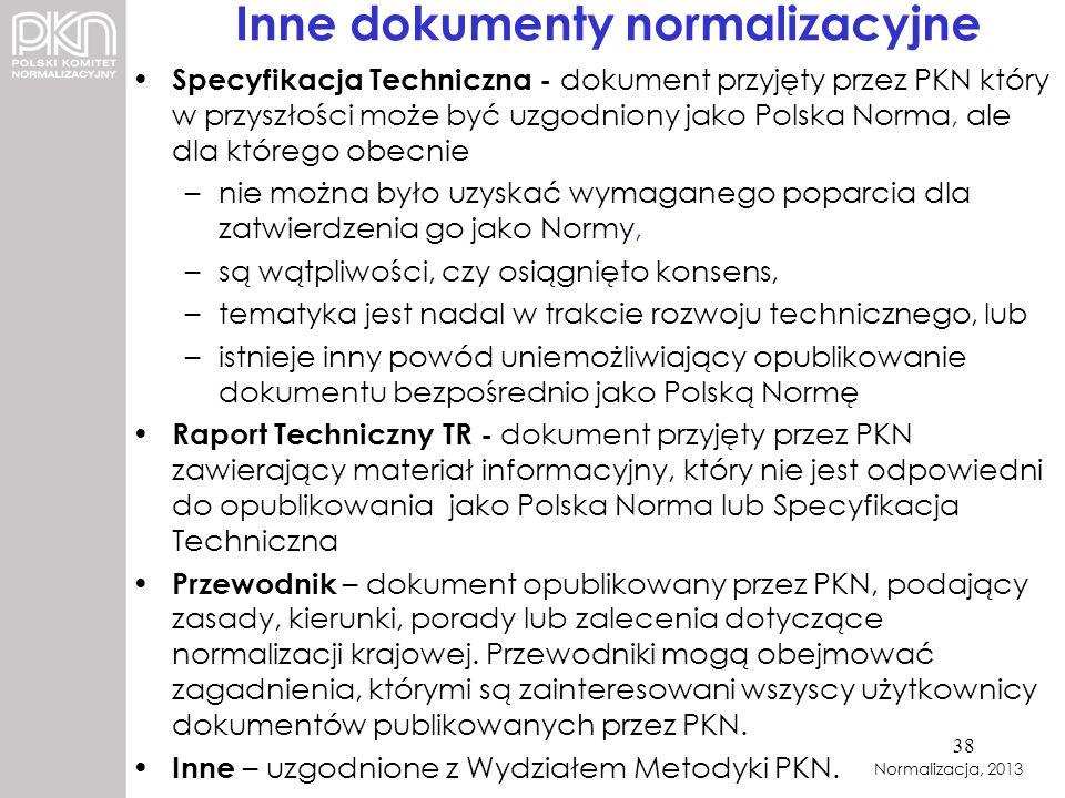 Inne dokumenty normalizacyjne