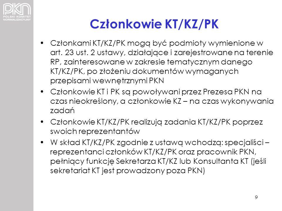 Członkowie KT/KZ/PK
