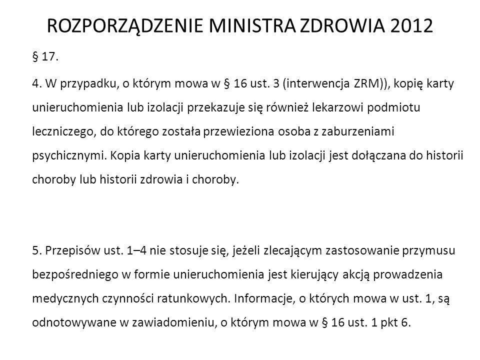 ROZPORZĄDZENIE MINISTRA ZDROWIA 2012