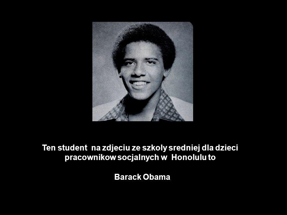 Ten student na zdjeciu ze szkoly sredniej dla dzieci pracownikow socjalnych w Honolulu to
