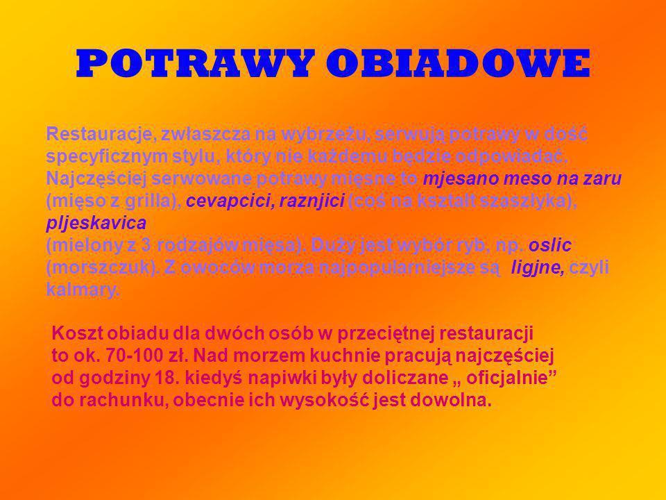 POTRAWY OBIADOWE
