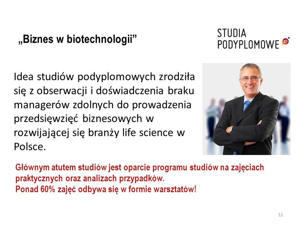 """""""Biznes w biotechnologii"""