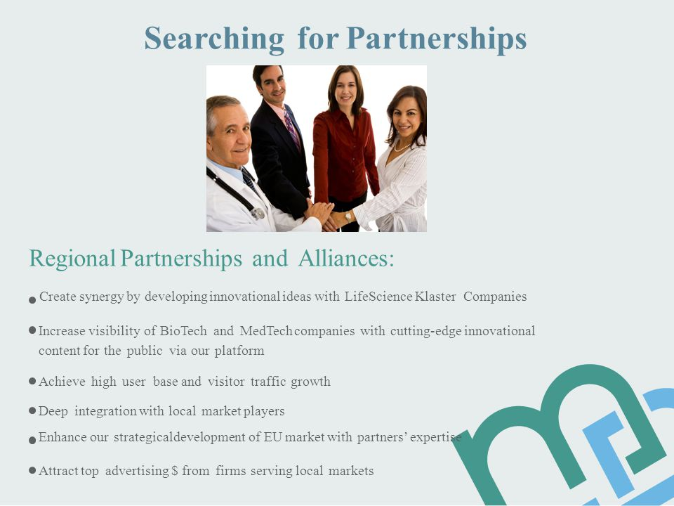 Searching for Partnerships Regional Partnerships and Alliances: