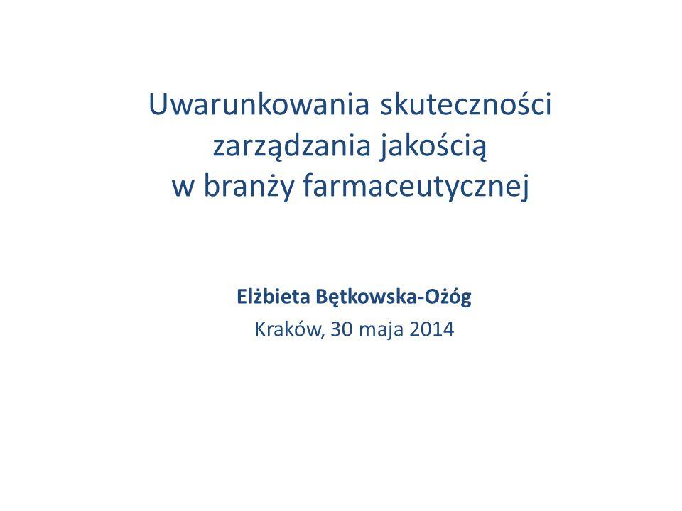 Elżbieta Bętkowska-Ożóg Kraków, 30 maja 2014