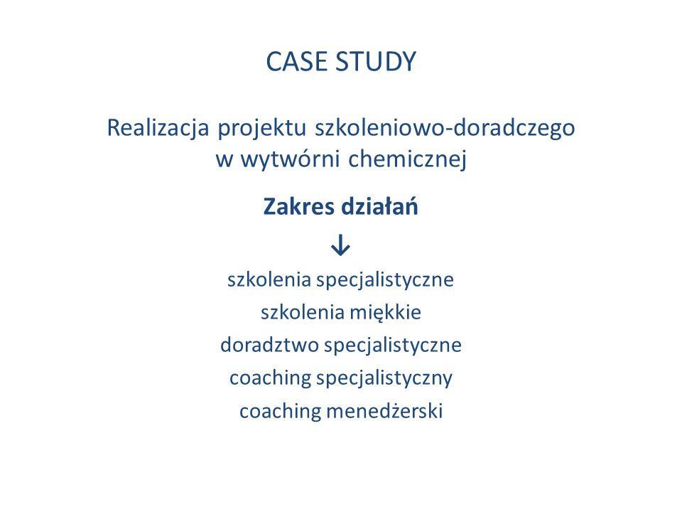 CASE STUDY Realizacja projektu szkoleniowo-doradczego w wytwórni chemicznej