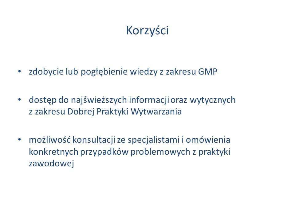 Korzyści zdobycie lub pogłębienie wiedzy z zakresu GMP