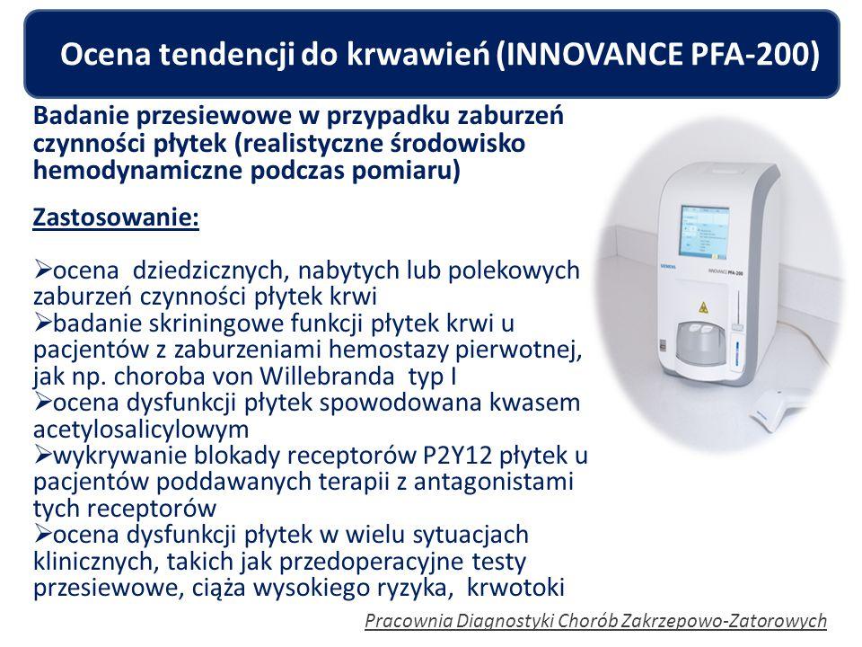 Ocena tendencji do krwawień (INNOVANCE PFA-200)