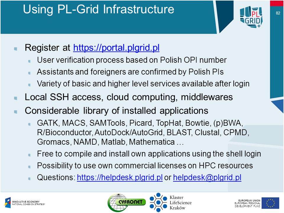Using PL-Grid Infrastructure