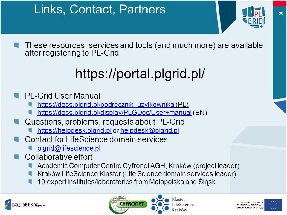 Links, Contact, Partners