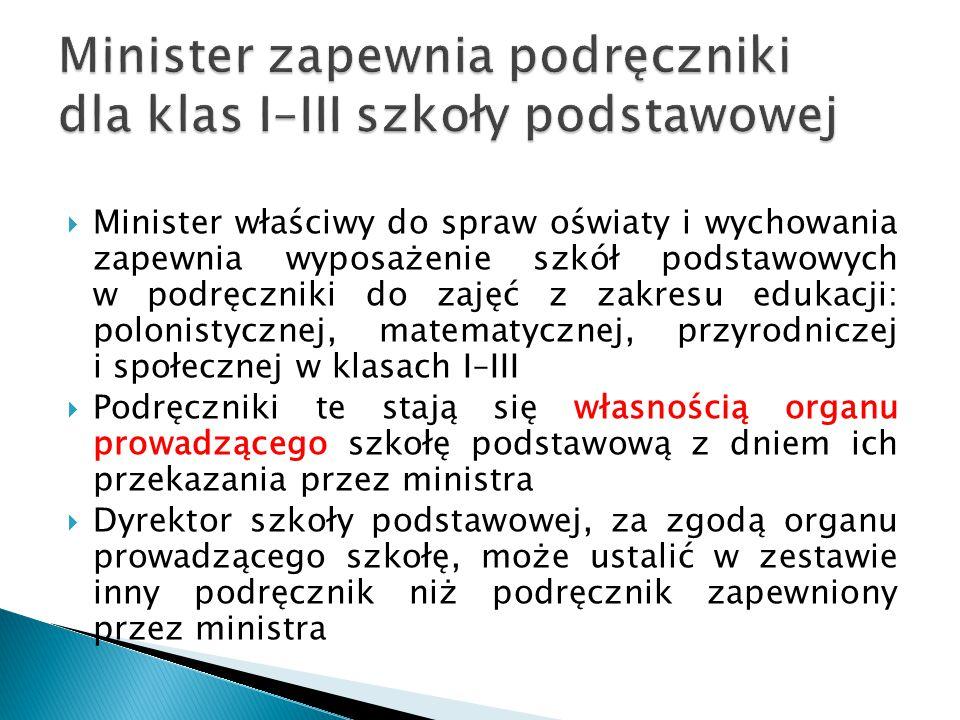 Minister zapewnia podręczniki dla klas I–III szkoły podstawowej