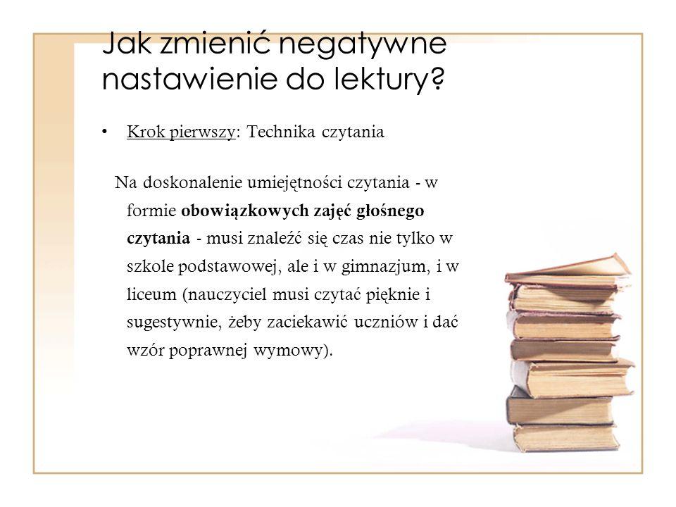 Jak zmienić negatywne nastawienie do lektury
