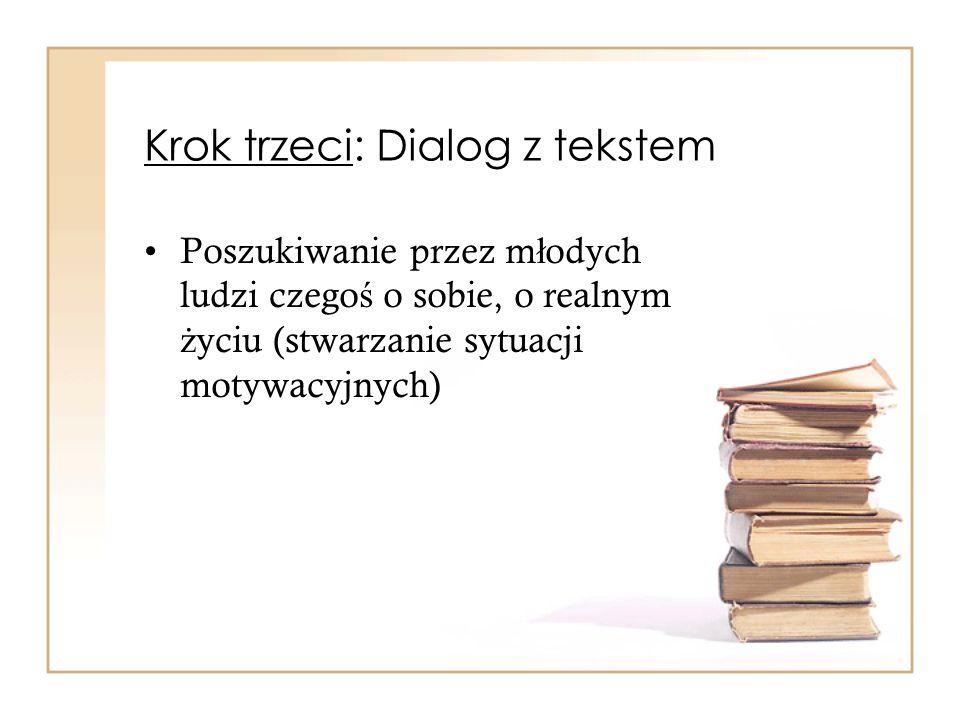 Krok trzeci: Dialog z tekstem