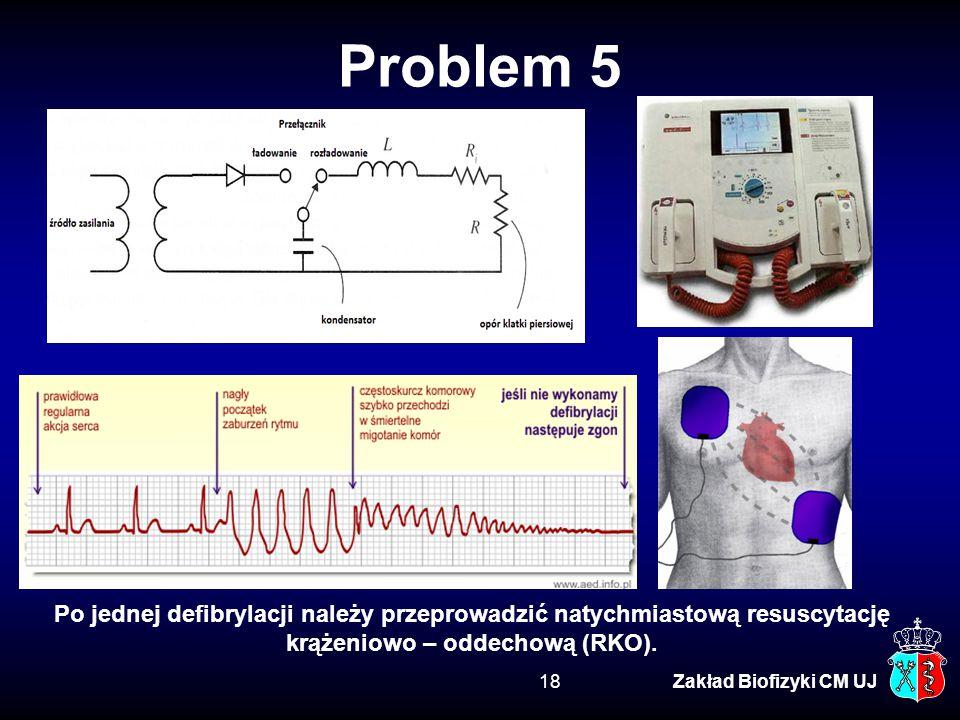 Problem 5 Po jednej defibrylacji należy przeprowadzić natychmiastową resuscytację krążeniowo – oddechową (RKO).