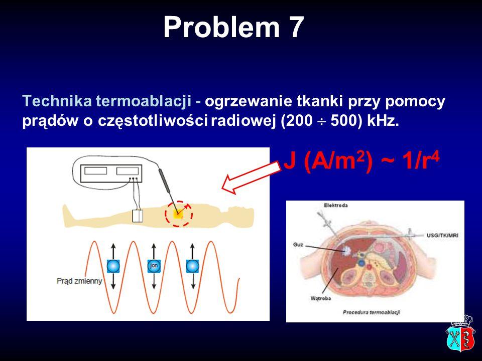 Technika termoablacji - ogrzewanie tkanki przy pomocy prądów o częstotliwości radiowej (200  500) kHz.