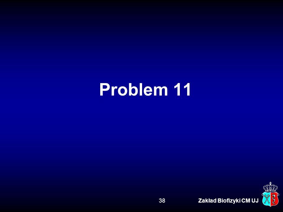Problem 11 Zakład Biofizyki CM UJ