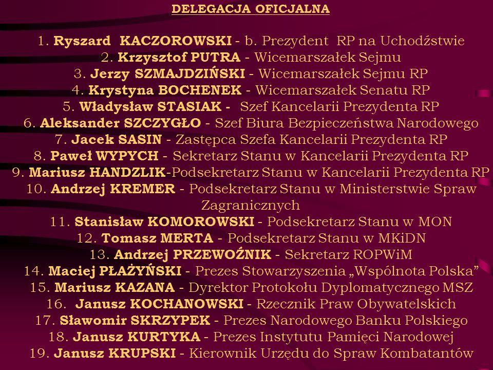 DELEGACJA OFICJALNA 1. Ryszard KACZOROWSKI - b
