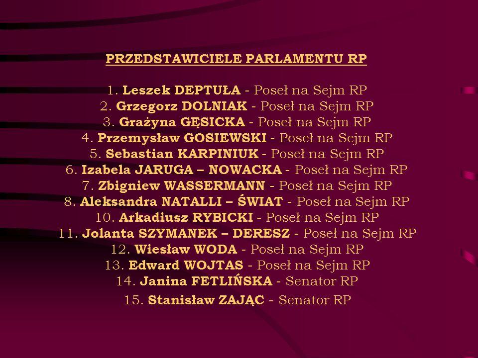 PRZEDSTAWICIELE PARLAMENTU RP 1. Leszek DEPTUŁA - Poseł na Sejm RP 2
