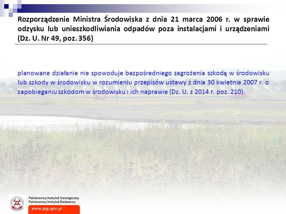 Rozporządzenie Ministra Środowiska z dnia 21 marca 2006 r