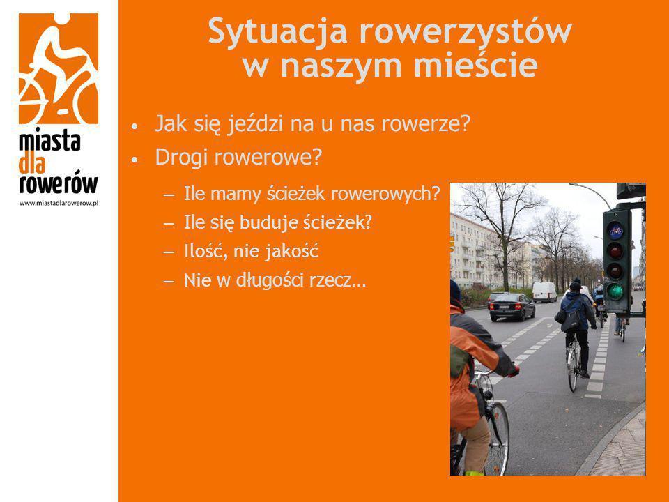 Sytuacja rowerzystów w naszym mieście