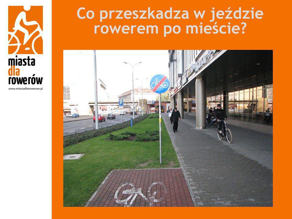 Co przeszkadza w jeździe rowerem po mieście