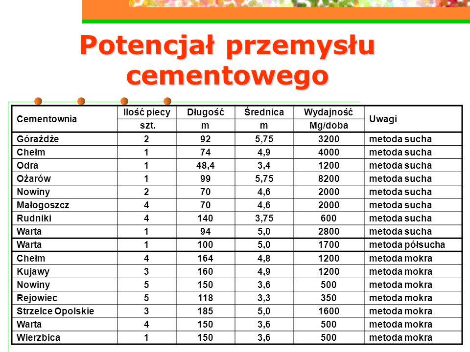 Potencjał przemysłu cementowego