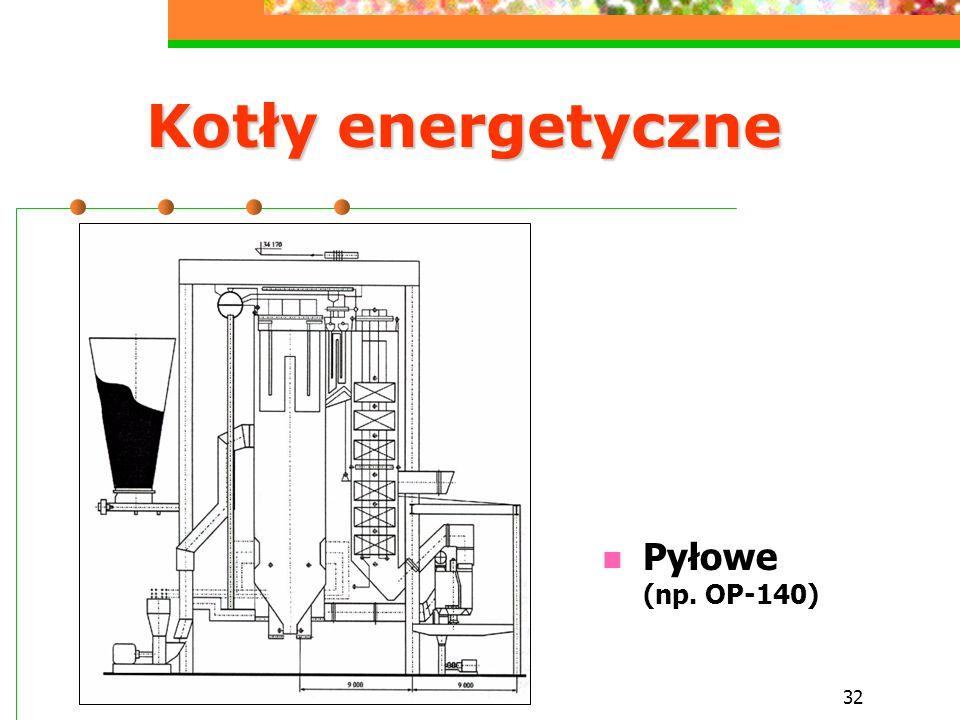 Kotły energetyczne Pyłowe (np. OP-140)