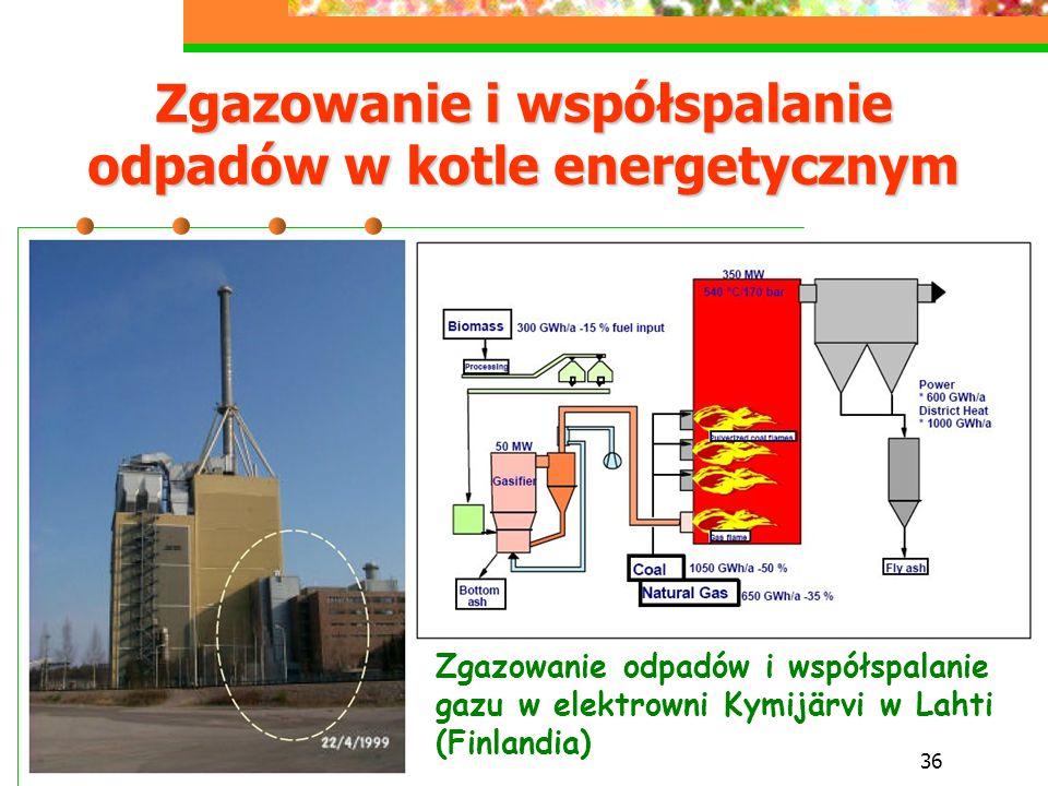 Zgazowanie i współspalanie odpadów w kotle energetycznym