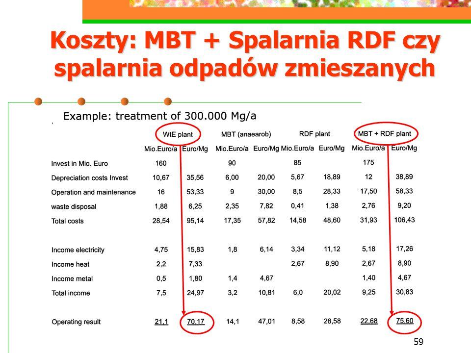 Koszty: MBT + Spalarnia RDF czy spalarnia odpadów zmieszanych