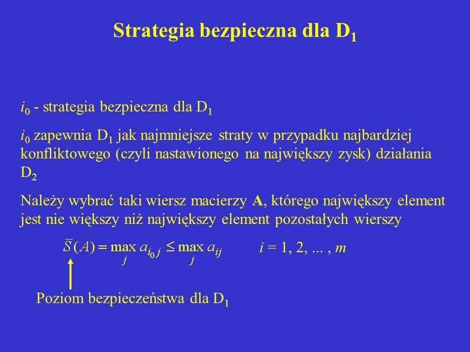 Strategia bezpieczna dla D1