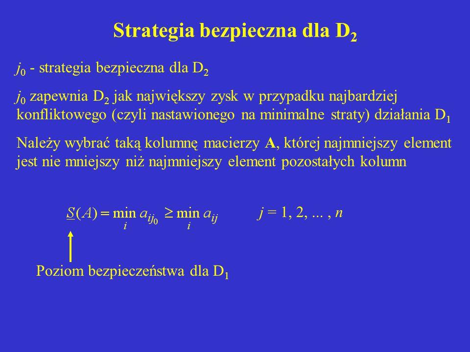 Strategia bezpieczna dla D2