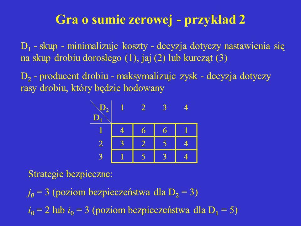 Gra o sumie zerowej - przykład 2