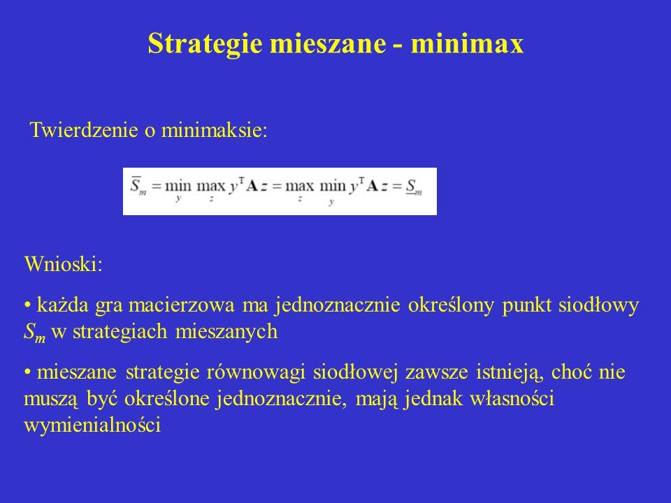 Strategie mieszane - minimax