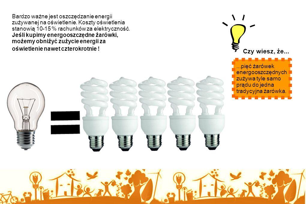 Bardzo ważne jest oszczędzanie energii zużywanej na oświetlenie