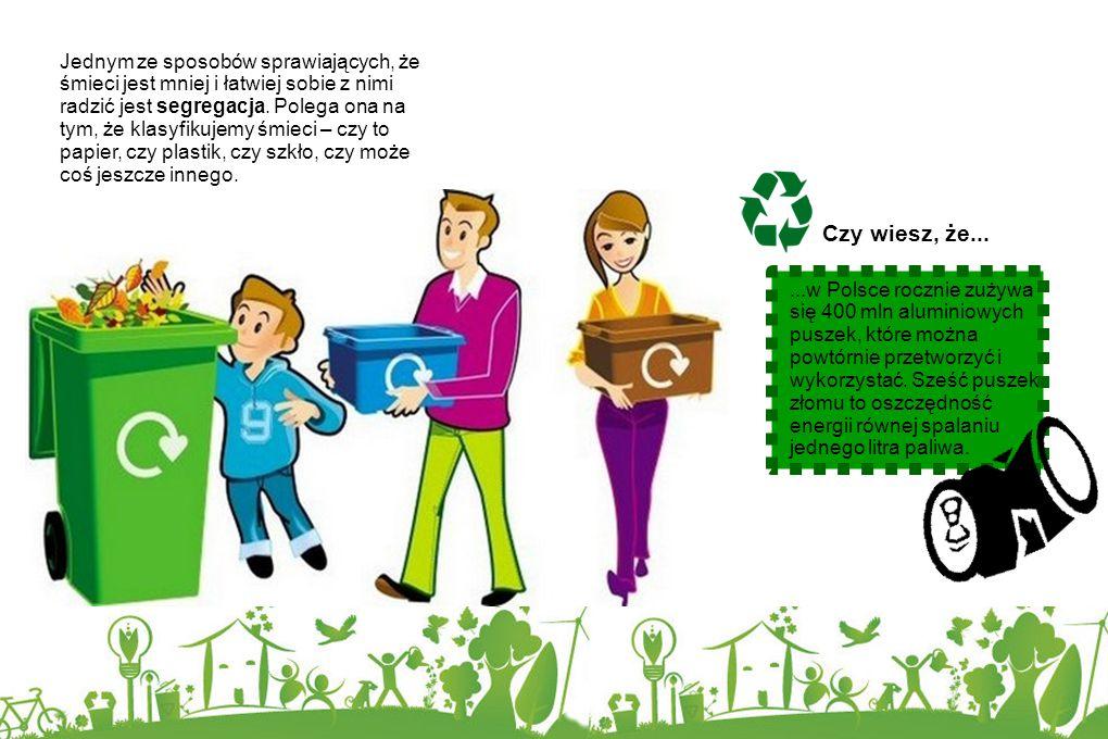 Jednym ze sposobów sprawiających, że śmieci jest mniej i łatwiej sobie z nimi radzić jest segregacja. Polega ona na tym, że klasyfikujemy śmieci – czy to papier, czy plastik, czy szkło, czy może coś jeszcze innego.