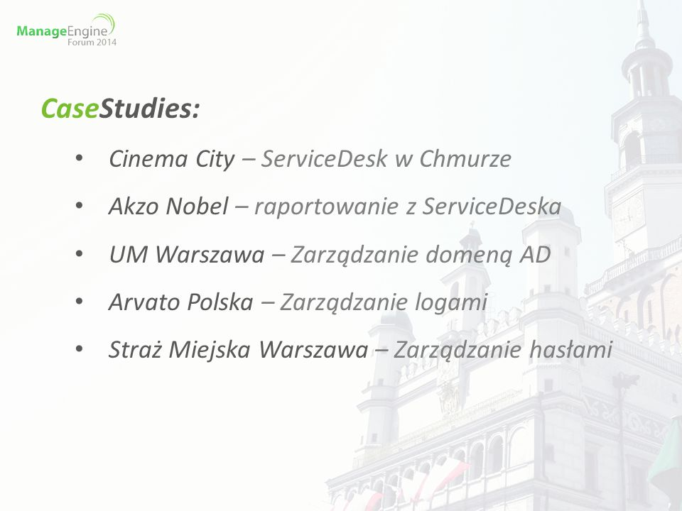 CaseStudies: Cinema City – ServiceDesk w Chmurze