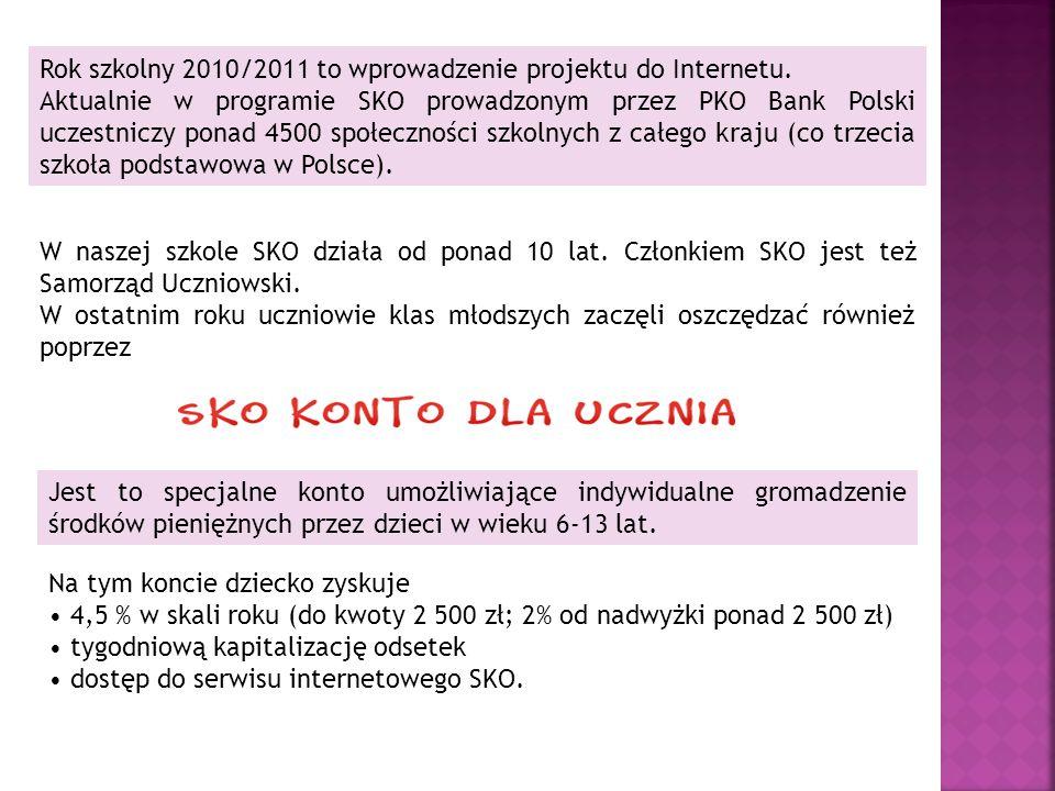 Rok szkolny 2010/2011 to wprowadzenie projektu do Internetu.
