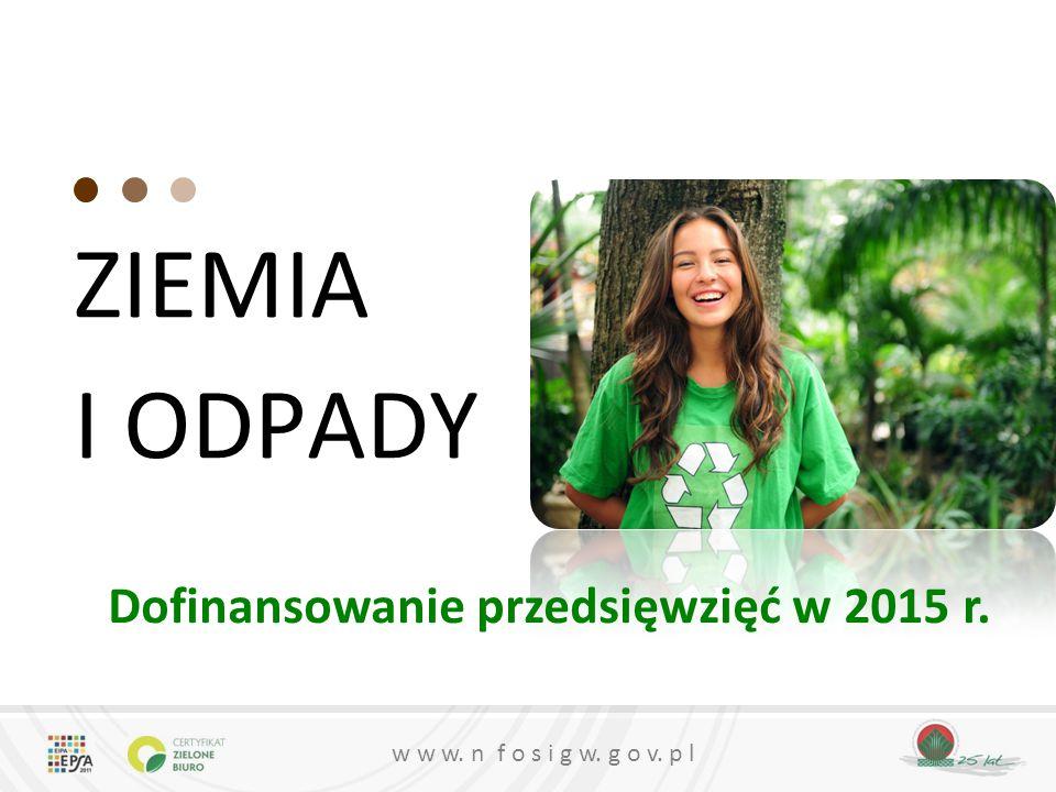 Dofinansowanie przedsięwzięć w 2015 r.