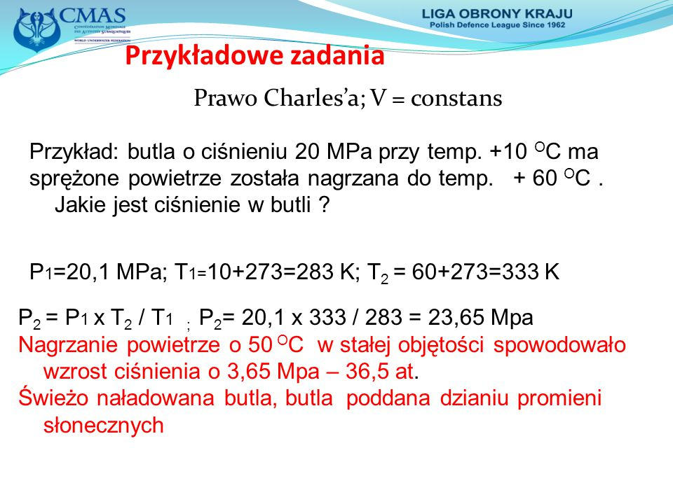 Prawo Charles'a; V = constans