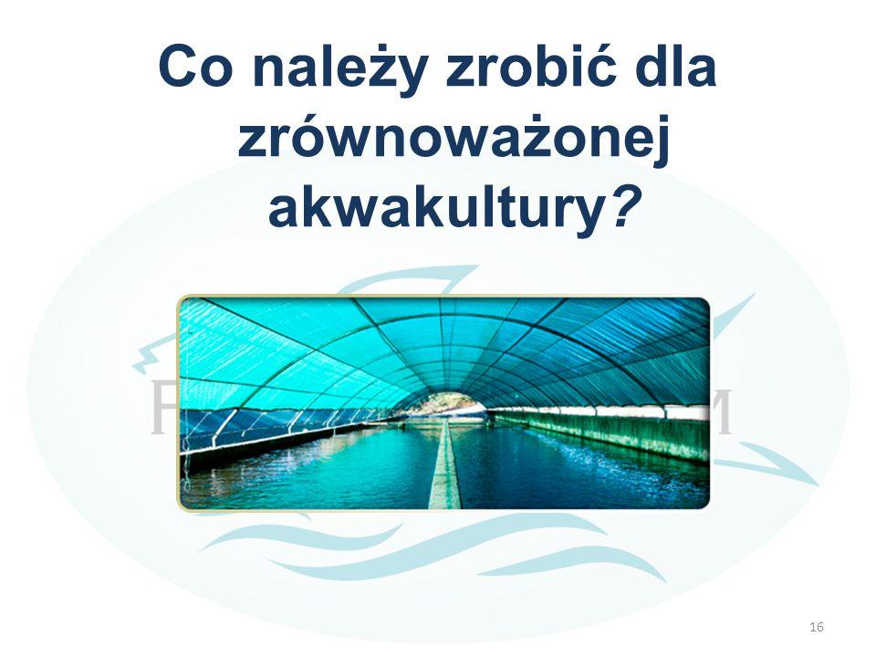 Co należy zrobić dla zrównoważonej akwakultury