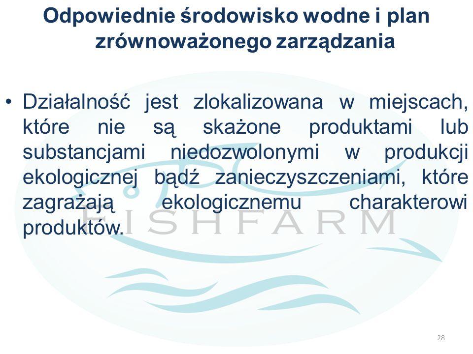Odpowiednie środowisko wodne i plan zrównoważonego zarządzania