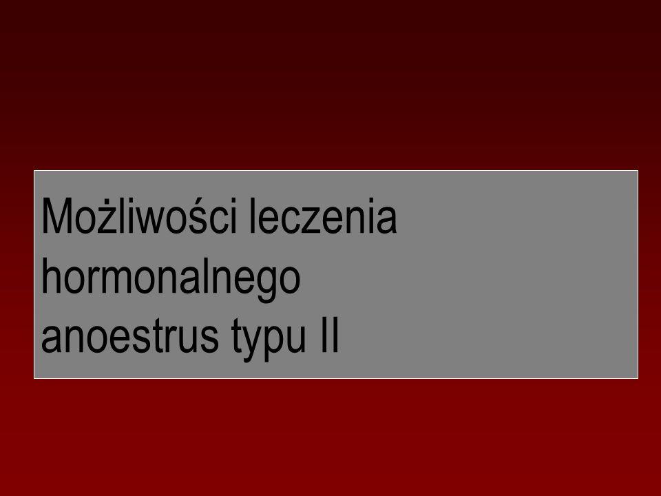 Możliwości leczenia hormonalnego anoestrus typu II