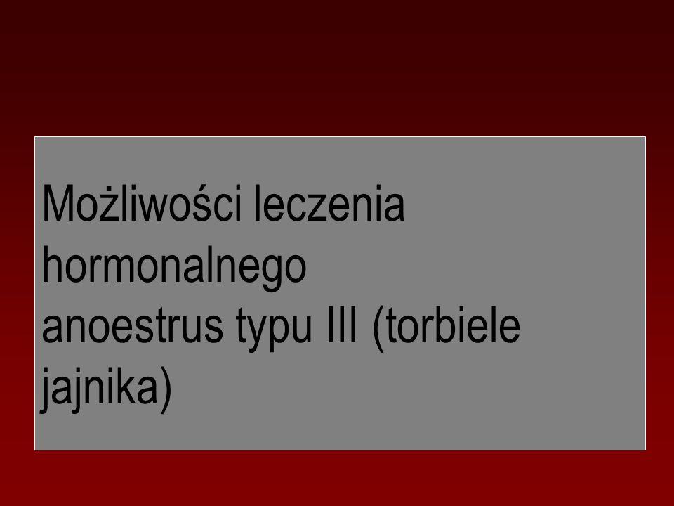 Możliwości leczenia hormonalnego anoestrus typu III (torbiele jajnika)