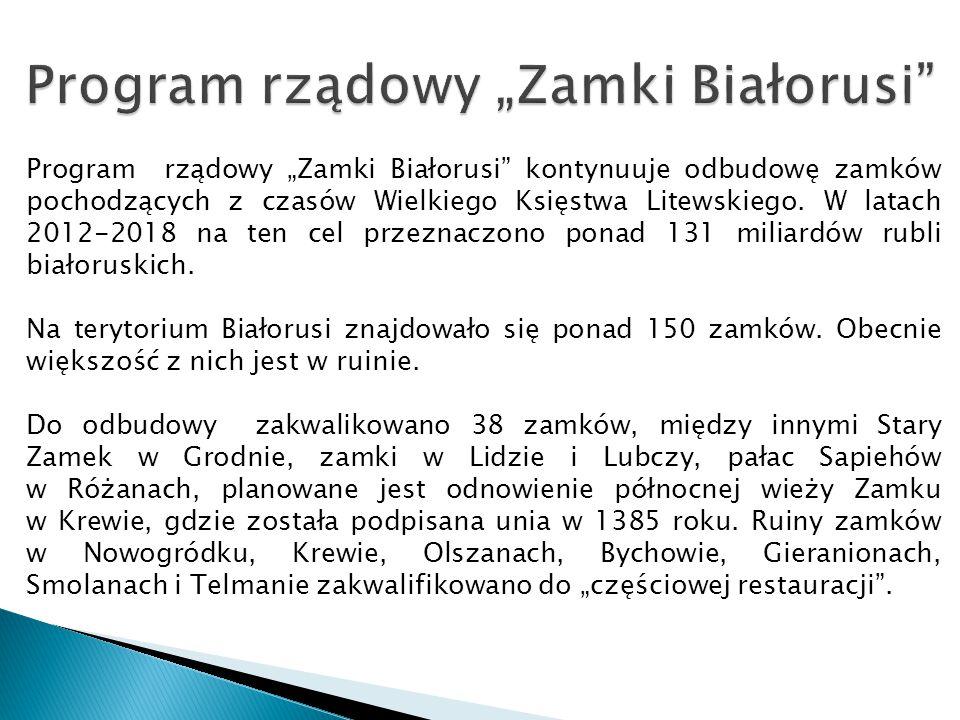 """Program rządowy """"Zamki Białorusi"""