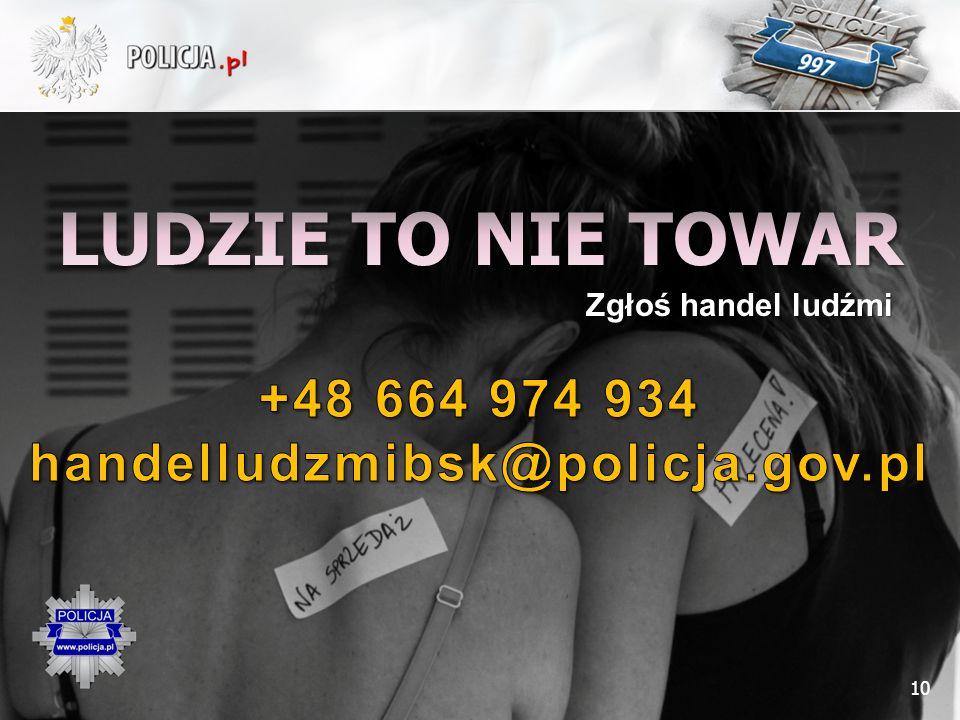 LUDZIE TO NIE TOWAR +48 664 974 934 handelludzmibsk@policja.gov.pl