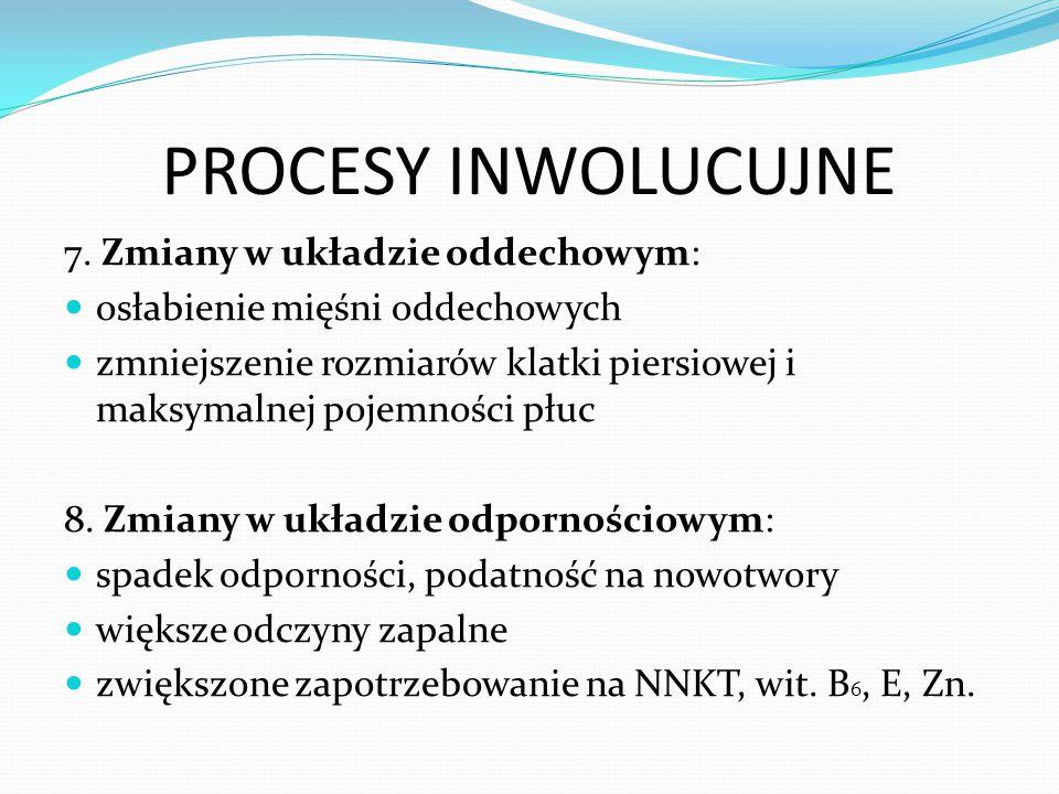 PROCESY INWOLUCUJNE 7. Zmiany w układzie oddechowym: