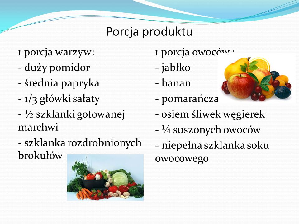 Porcja produktu