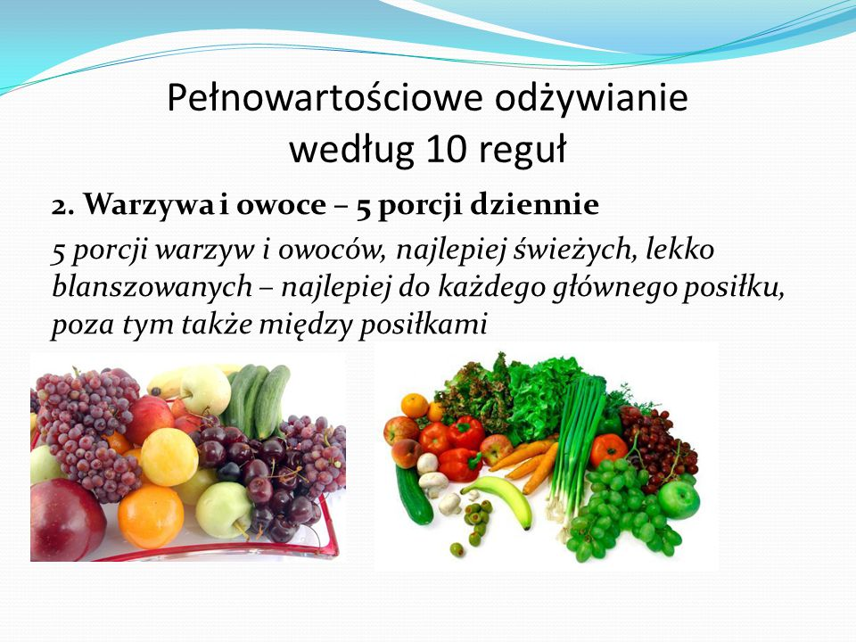 Pełnowartościowe odżywianie według 10 reguł