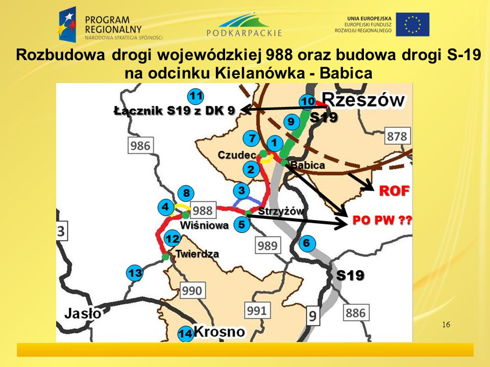 Rozbudowa drogi wojewódzkiej 988 oraz budowa drogi S-19 na odcinku Kielanówka - Babica